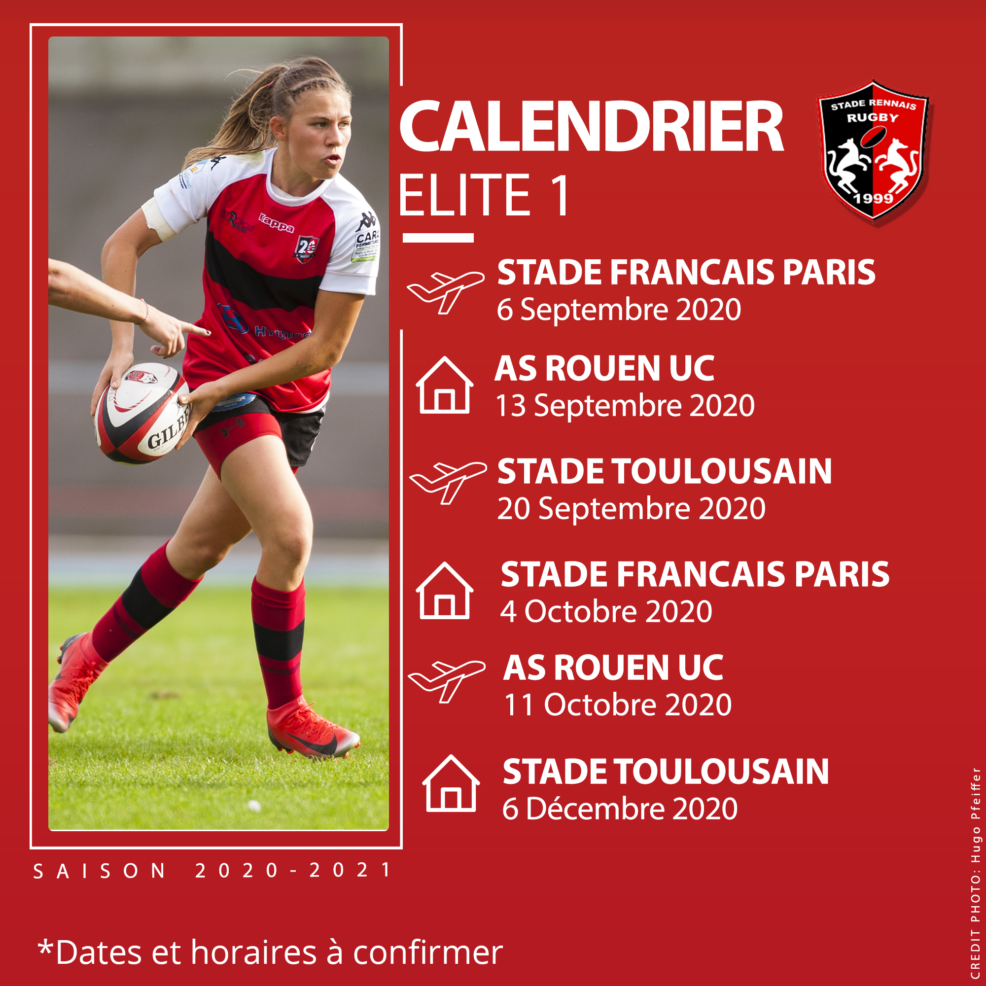 Calendrier Elite 1 - Saison 2020-2021